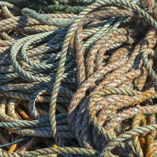 """""""coils of old rope"""" stock image"""