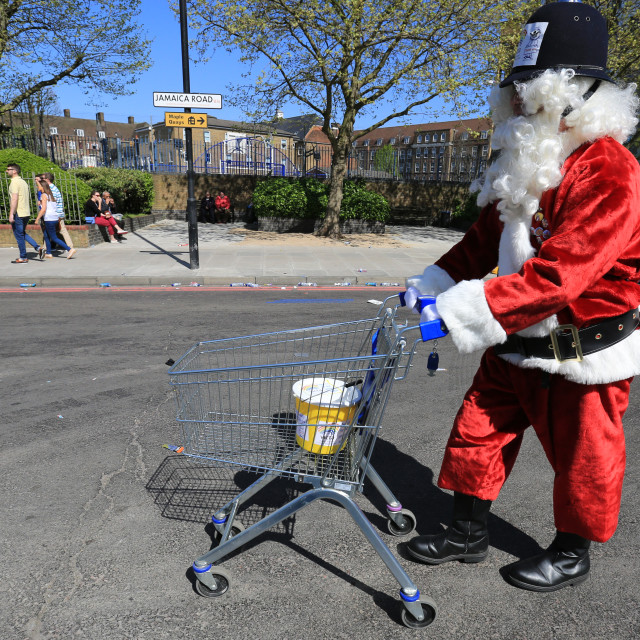 """Santa Outfit in the London Marathon"" stock image"