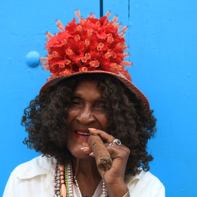 """Lady with a Cigar, Havana"" stock image"