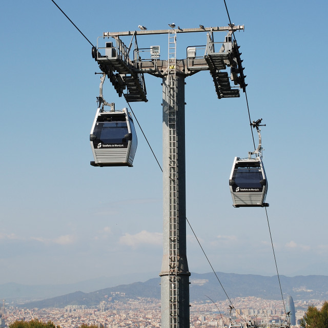 """Teleferic cable car, Barcelona"" stock image"