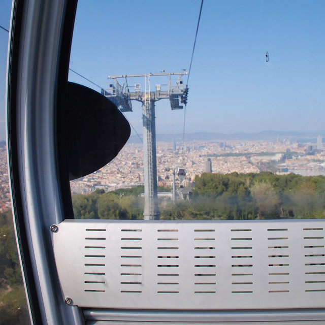 """Teleferic cable car pod, Barcelona"" stock image"