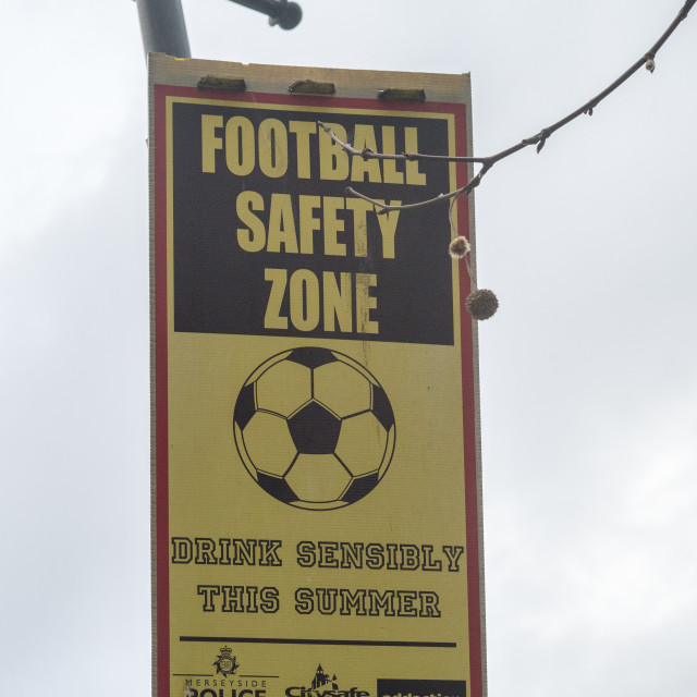 """Football Safety Zone"" stock image"