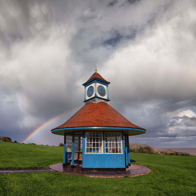 """Frinton Essex Rainbow"" stock image"