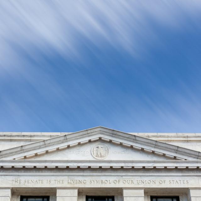 """""""Dirksen Senate office building facade Washington DC"""" stock image"""