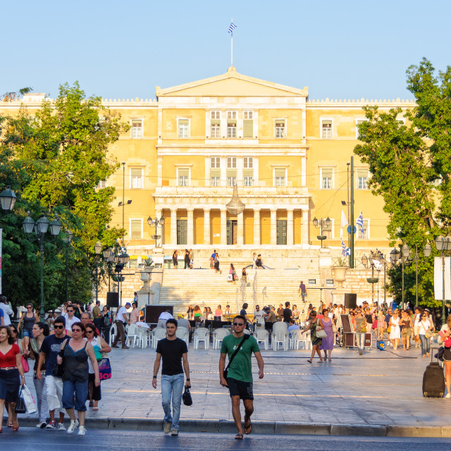 """""""The Hellenic Parliament - Athens"""" stock image"""