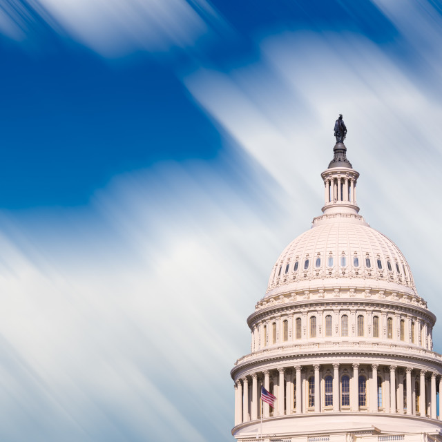 """""""Congress capitol dome in Washington DC"""" stock image"""