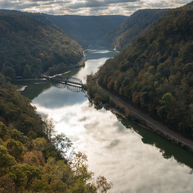 """New River from Hawks Nest Overlook"" stock image"