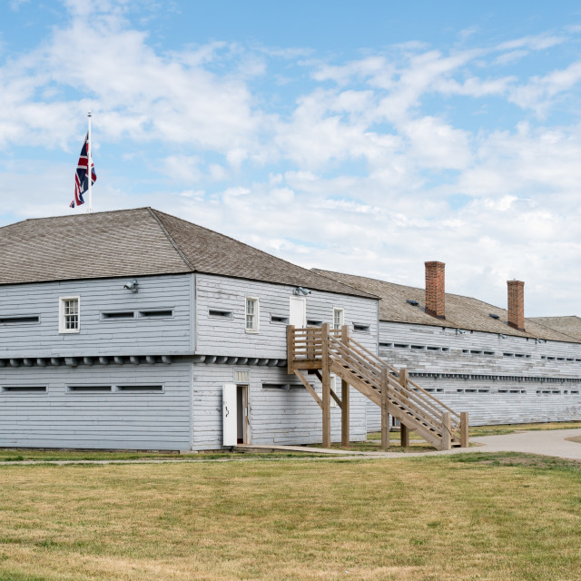 """Buildings in Fort George in Ontario Canada"" stock image"