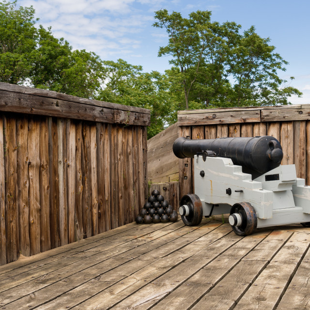 """Cannon in Fort George in Ontario Canada"" stock image"