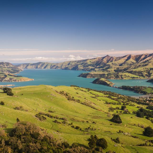 """New Zealand pristine scenery"" stock image"