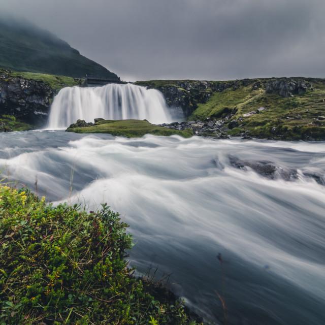 """""""Kirkjufell waterfall landscape, Iceland"""" stock image"""