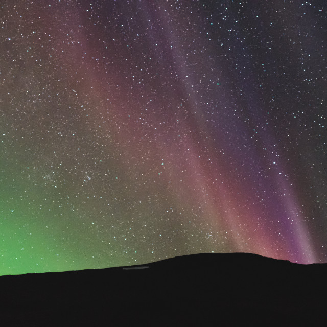 """colorful northern lights over the horizon"" stock image"