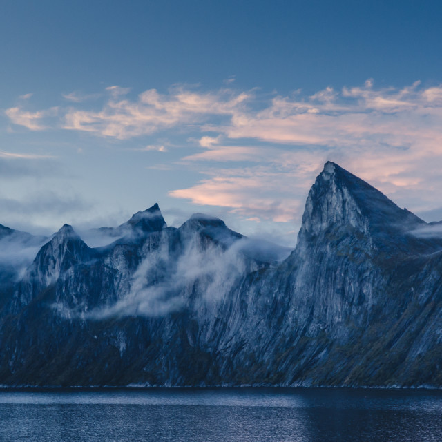 """Senja mountain range, Segla"" stock image"