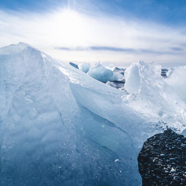 """jokulsarlon beach, iceland"" stock image"