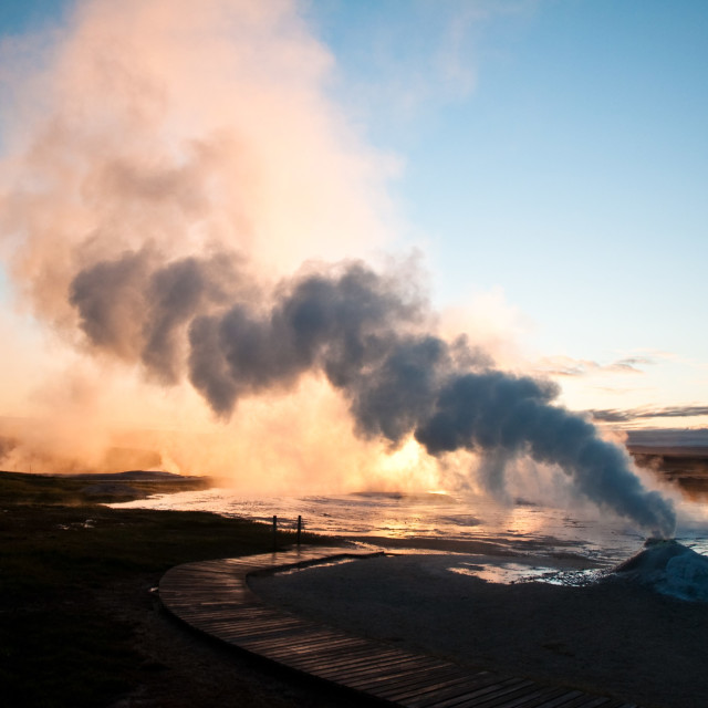 """small active volcano in Iceland"" stock image"