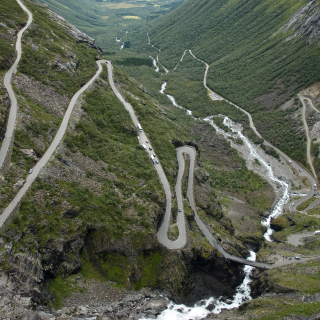 """road of the Trolls, Norway"" stock image"