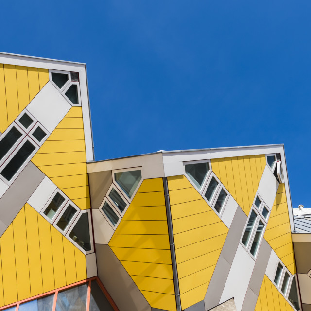 """Cube Houses Rotterdam Sky in Line"" stock image"