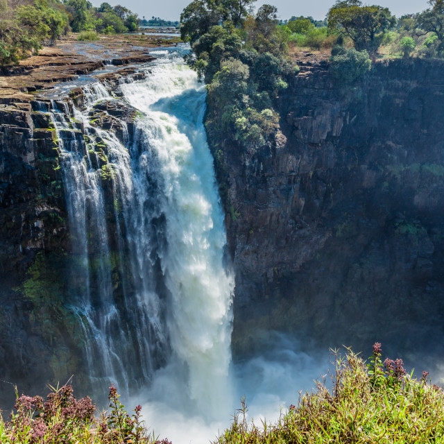 """Devil's Cataract, Victoria falls, Zimbabwe"" stock image"