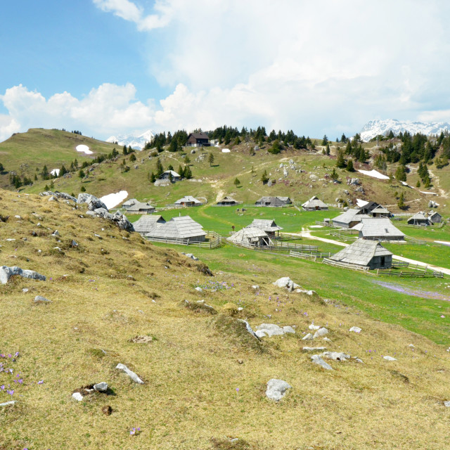 """Velika planina - mountain settlement"" stock image"