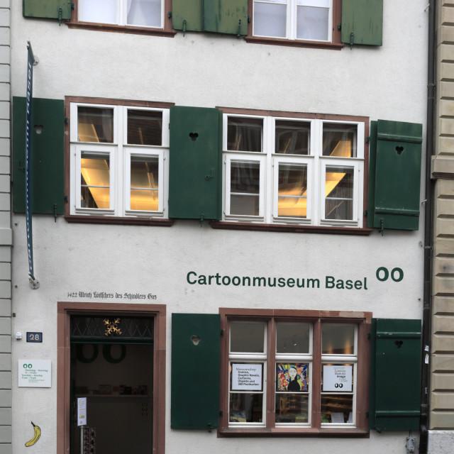 """The Cartoon museum, Basel city, Canton Basel Stadt, Switzerland, Europe"" stock image"