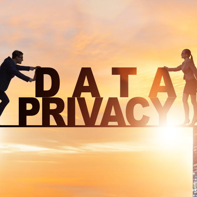 """""""Data privacy concept in modern IT technology"""" stock image"""