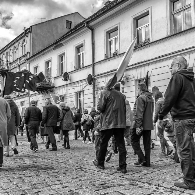 """""""May Day manifestation"""" stock image"""