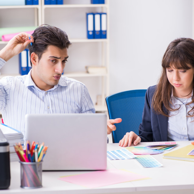 """""""People discussing new design of project"""" stock image"""