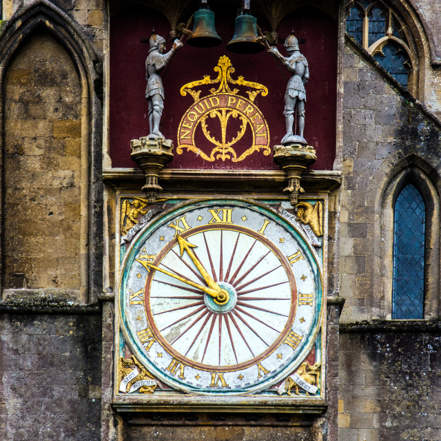"""""""Wells Cathedral Clock"""" stock image"""