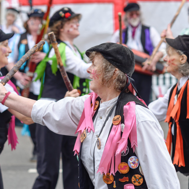 """St George's Day Parade in Ollerton,UK."" stock image"