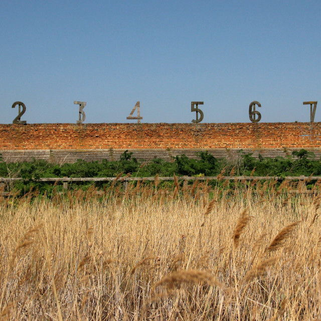 """""""Shooting by Numbers - Rainham Marshes Rifle Butts"""" stock image"""