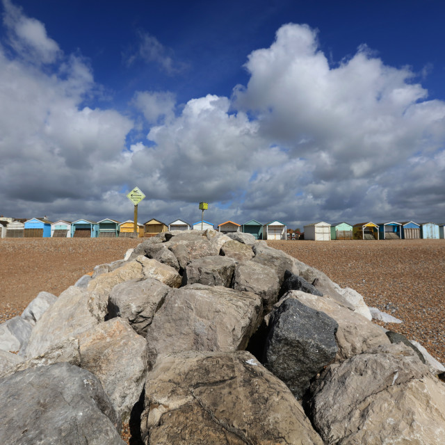 """""""Lancing Seafront, Sussex"""" stock image"""