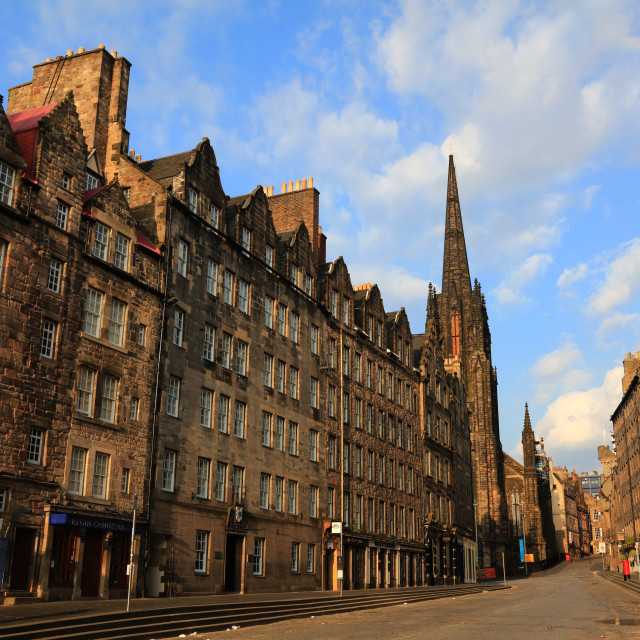 """Royal Mile, Edinburgh"" stock image"