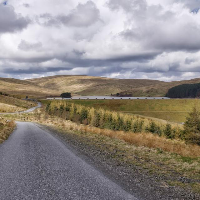 """""""Glensherup reservoir in Central Scotland"""" stock image"""
