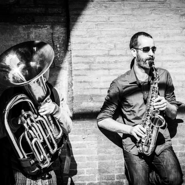 """Street Musicians"" stock image"