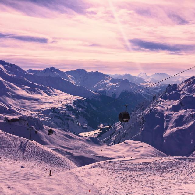 """St Anton am Arlberg"" stock image"