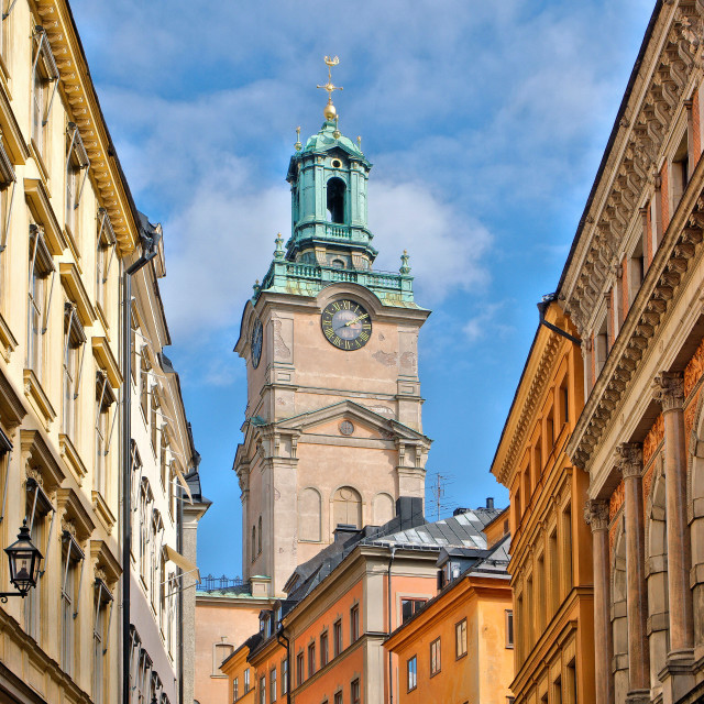 """Great Church Spire, Stockholm"" stock image"
