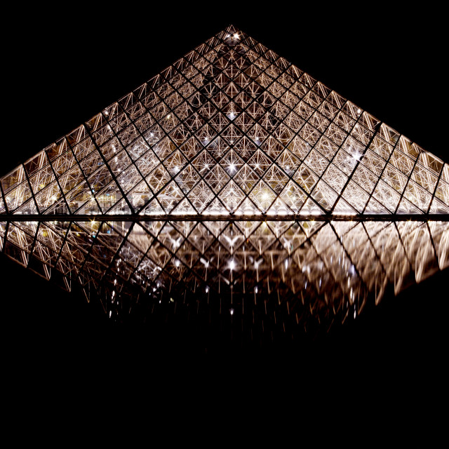 """Louvre Pyramid"" stock image"