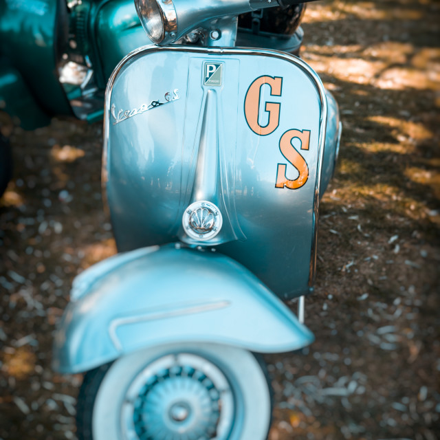 """Vespa GS Scooter"" stock image"