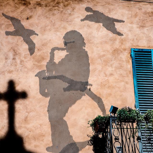 """""""Bologna Wall Art"""" stock image"""