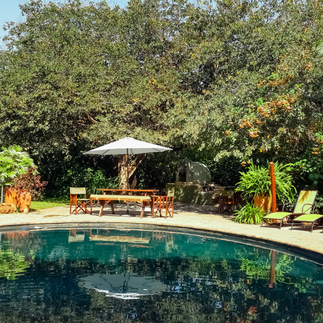 """Bayete Guest Lodge, Victoria Falls, Zimbabwe."" stock image"