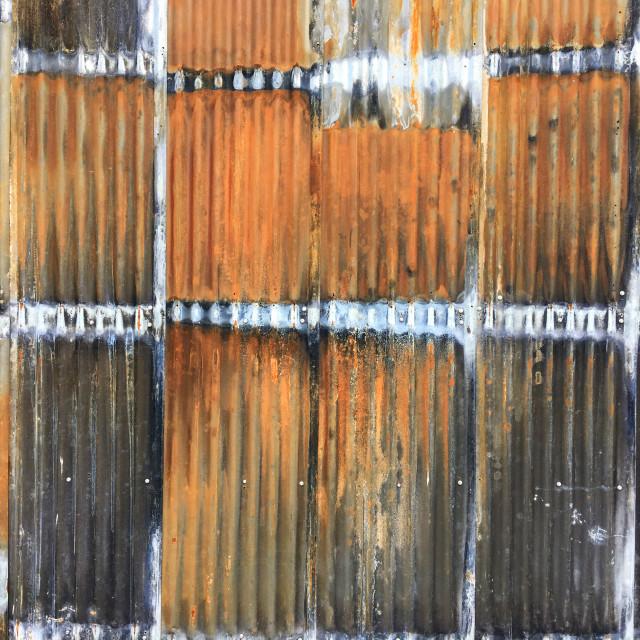 """""""Rusty corrugated iron"""" stock image"""