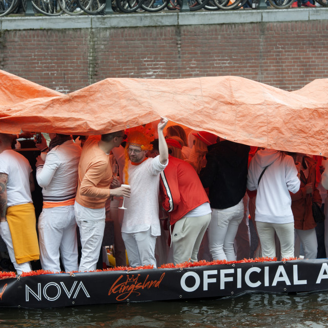 """""""Kings Day, Amsterdam, The Netherlands"""" stock image"""