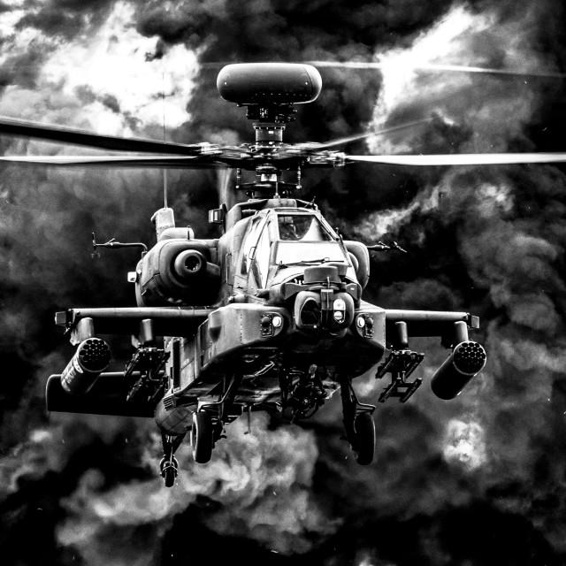 """Monochrome Apache Blast"" stock image"