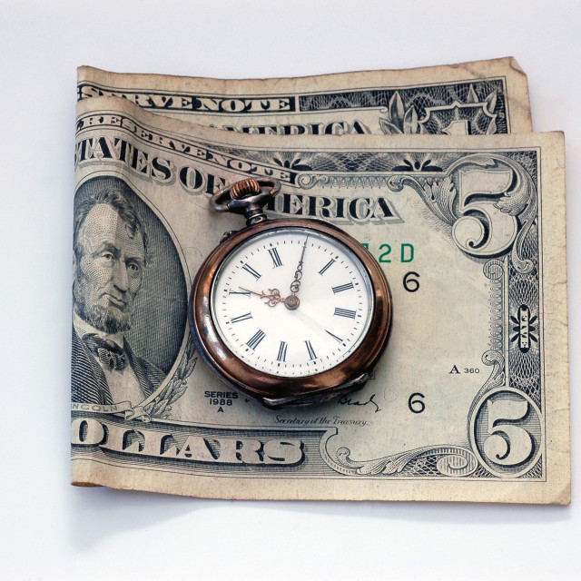 """""""Time and Money"""" stock image"""