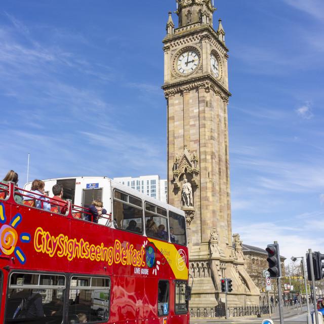 """Belfast Tour Bus"" stock image"