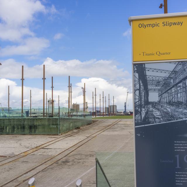 """Olympic Slipway, Belfast"" stock image"