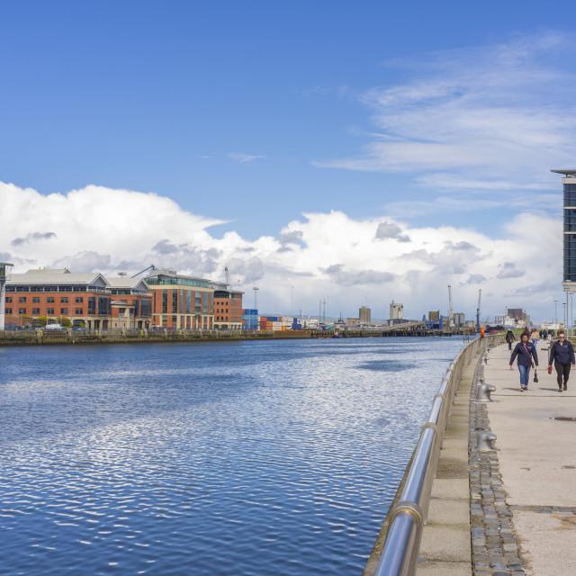"""Belfast Quayside"" stock image"
