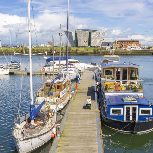 """Belfast Harbour Marina"" stock image"