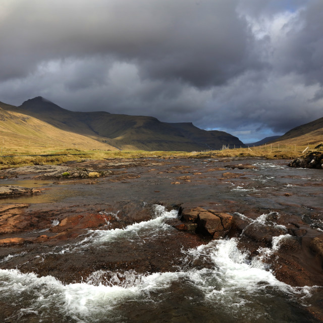 """River in Saksun Valley, Faroe Islands"" stock image"