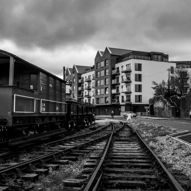 """Railway carriage in Bristol"" stock image"